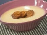 Супа от целина с печен чесън
